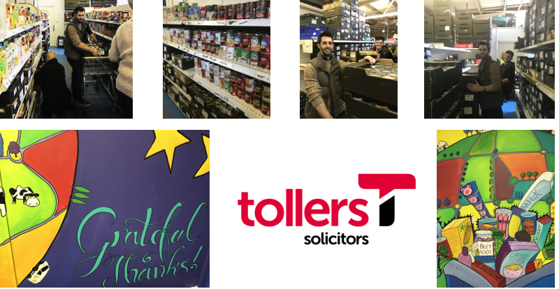 Tollers Trainees Help Out at MK Food Bank