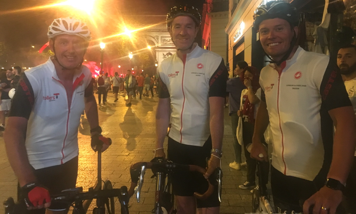 Tour De Tollers Cycling Trio raise vital funds for local charity